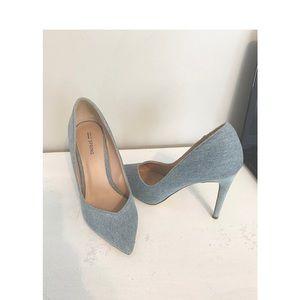'EUC Jean Material Heels'-Denim Material
